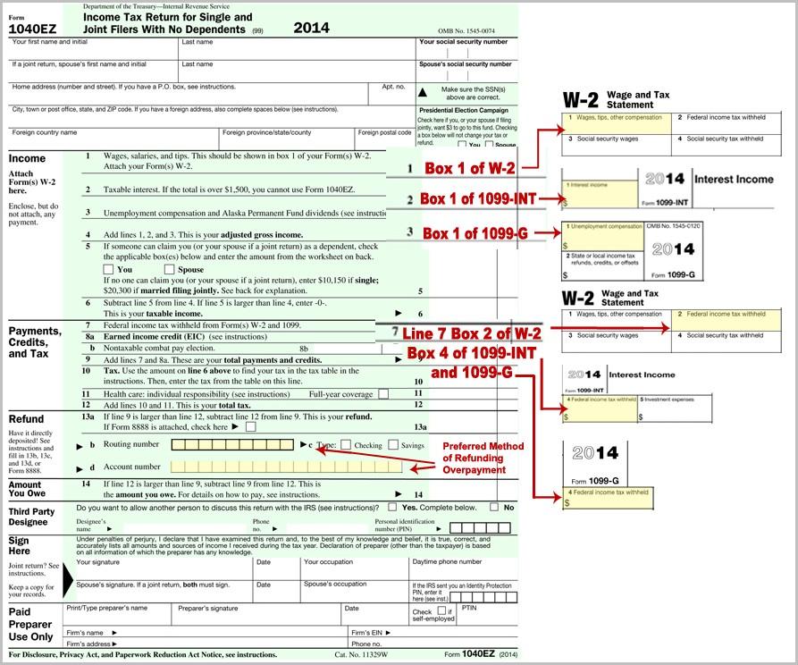 1040ez Form 2014 Online Filing