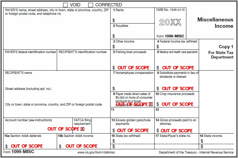 1099 Form Printable Template