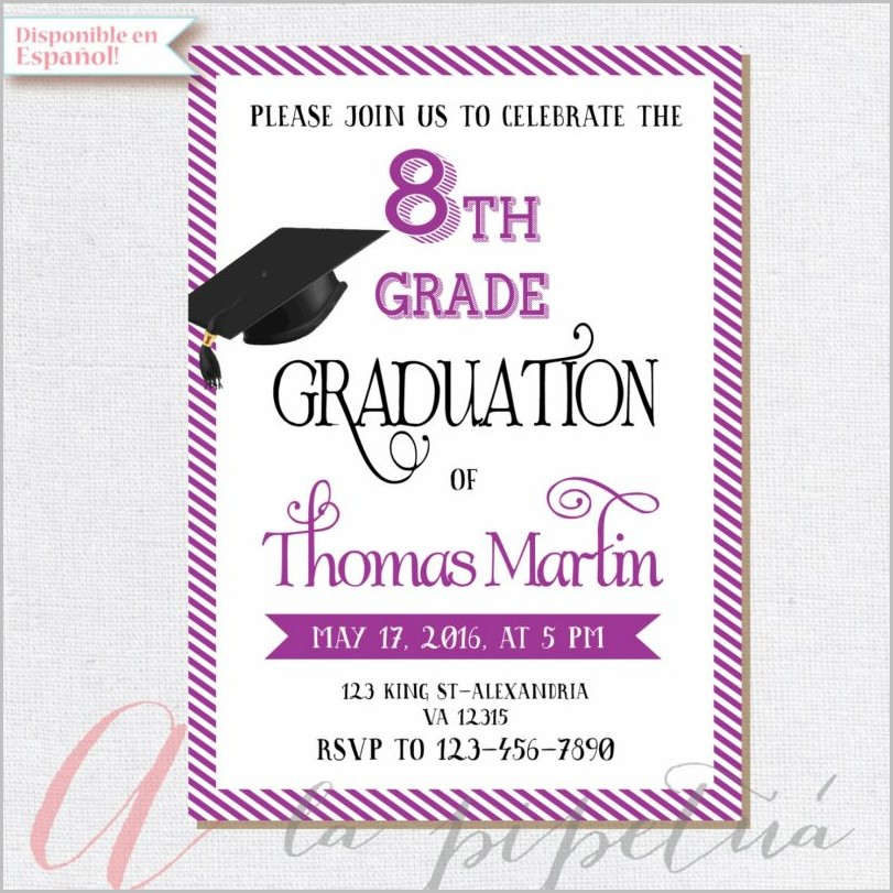 8th Grade Graduation Invitation Templates