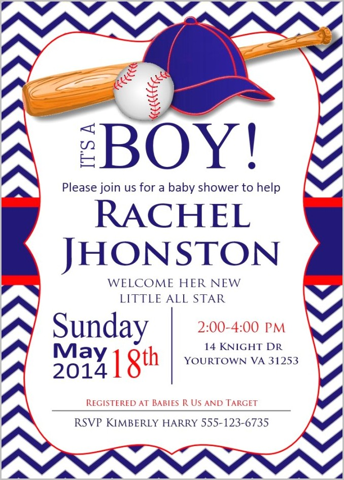 All Star Baby Shower Invitation Template