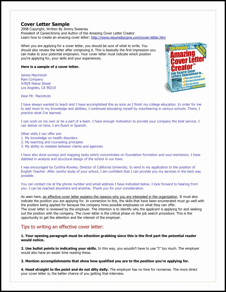 Amazing Cover Letter Creator Download