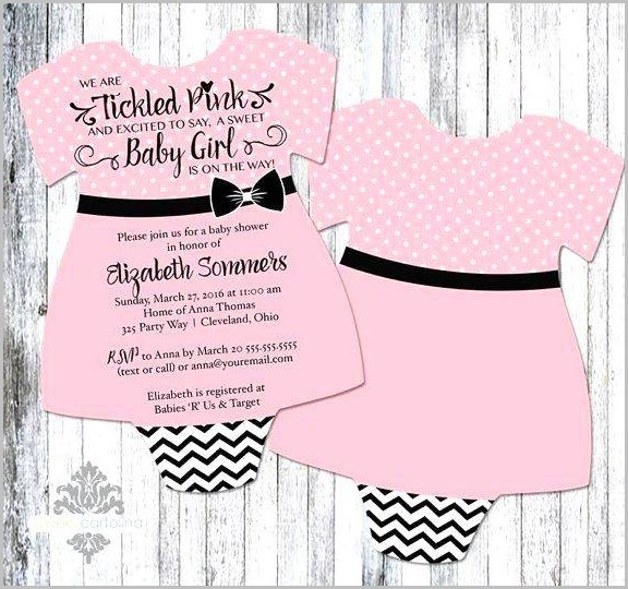 Baby Shower Dress Invitation Template