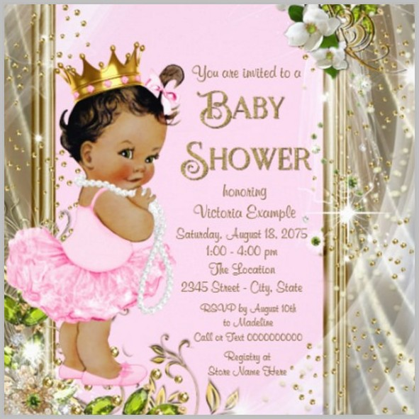 Baby Shower Invitation Template For A Girl