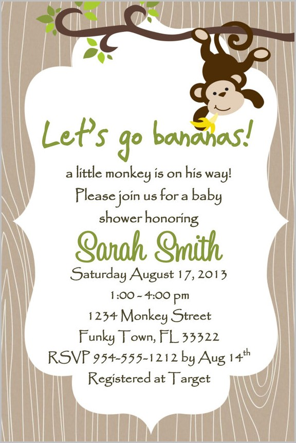Baby Shower Invitation Templates Etsy