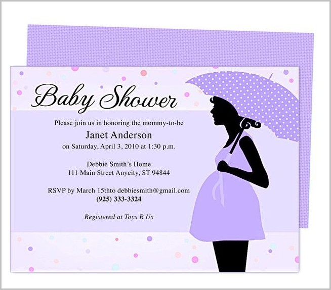 Baby Shower Invitation Templates To Email
