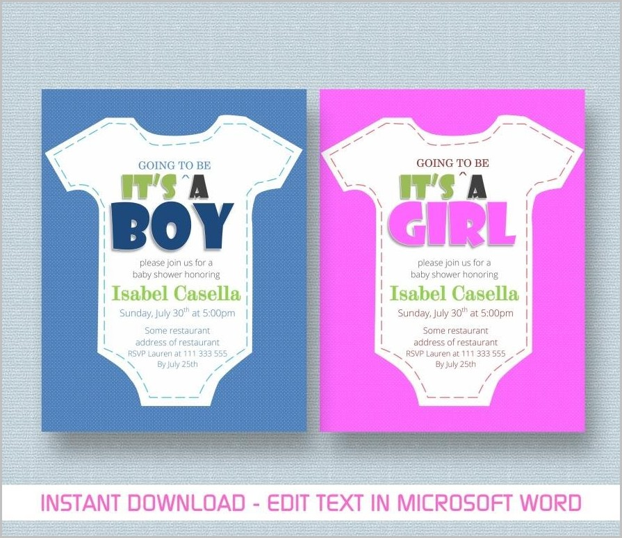 Baby Shower Invitation Video Template