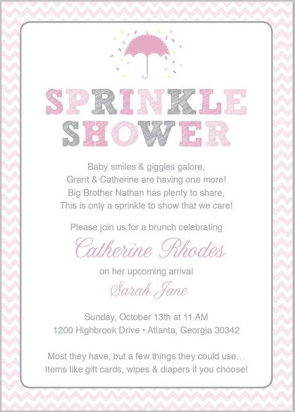 Baby Shower Invitations Samples Wording