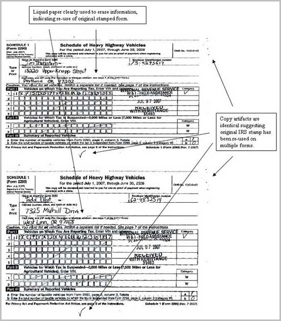 Copy Of Irs Form 2290