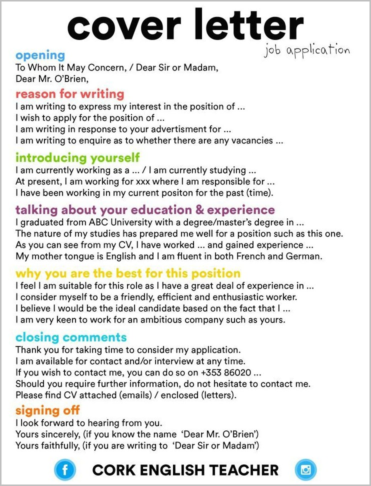 Cover Letter Template For Cleaning Job