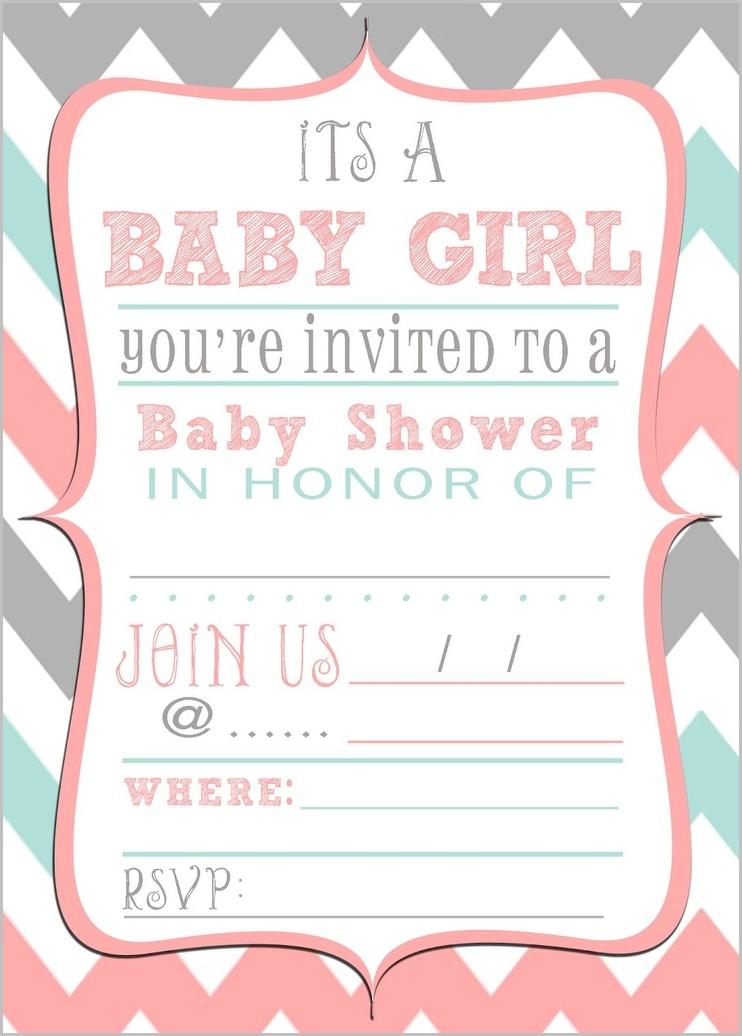 Create Baby Shower Invitation Template