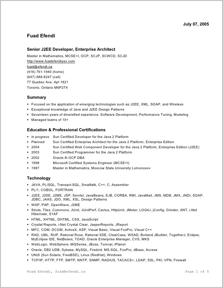 Example Of Cover Letters For Resumes