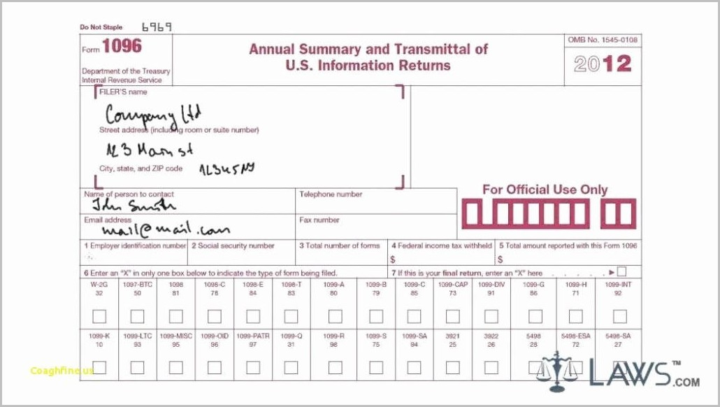 Fillable And Printable 1099 Misc Form 2017