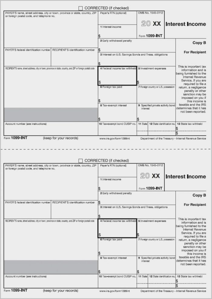 Form 1099 Misc 2016 Pdf Fillable