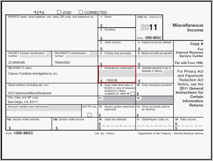 Form 1099 Misc Box 7