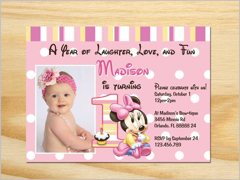 Free 1st Birthday Invitation Templates Printable