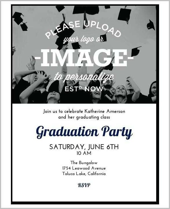 Free College Graduation Invitation Templates For Word