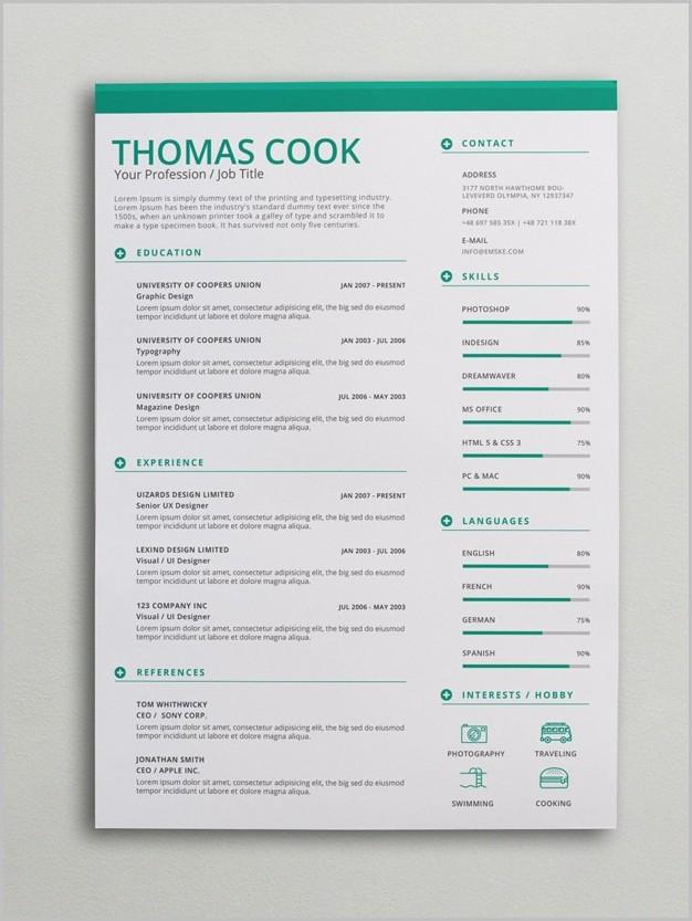 Free Creative Resume Templates Docx
