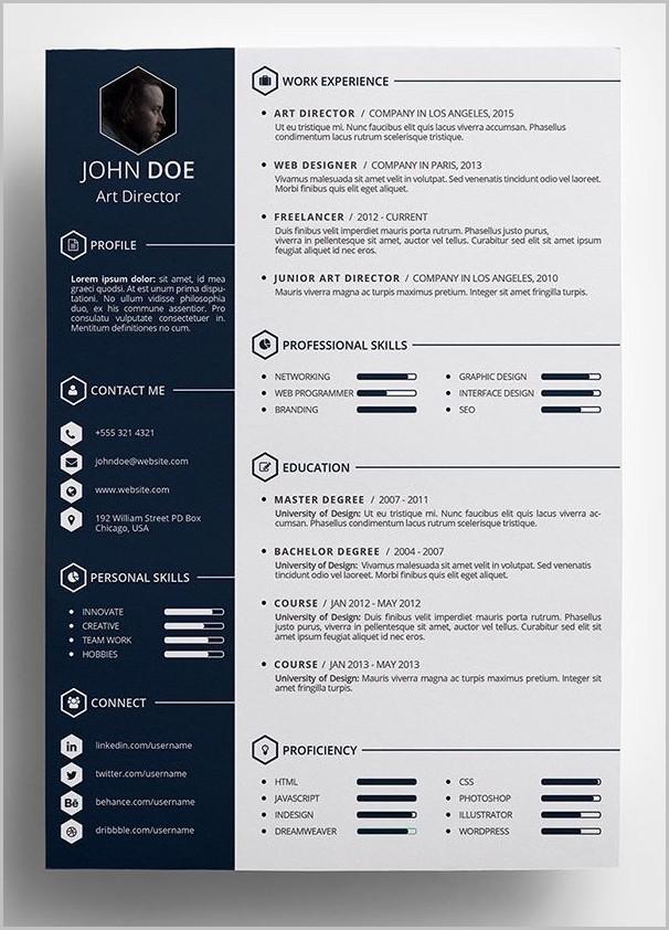 Free Creative Resume Templates Word Format