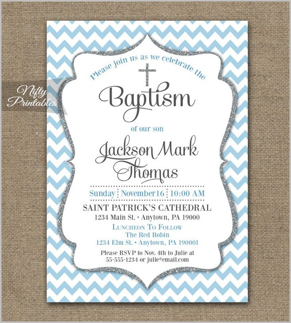 Free Invitation Templates Baptism