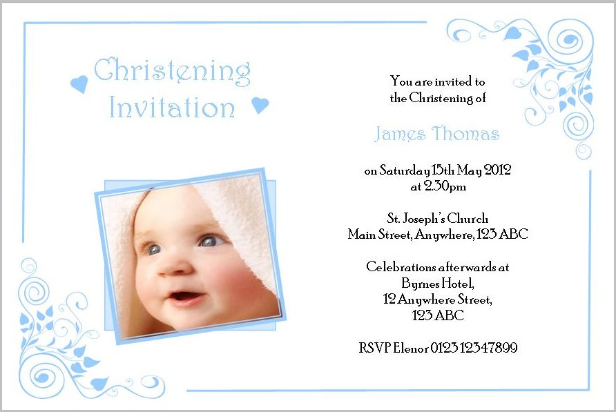 Free Invitation Templates Christening