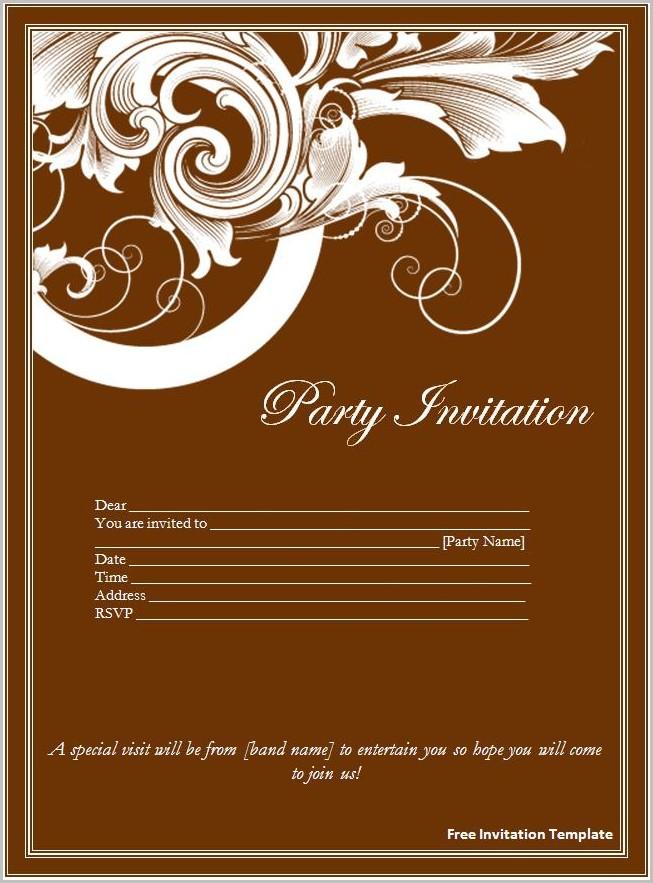 Free Invitation Templates Download