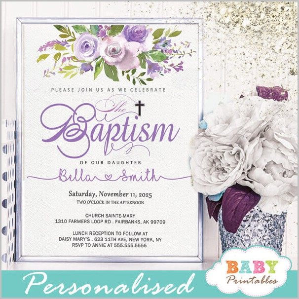 Free Invitation Templates For Baptism