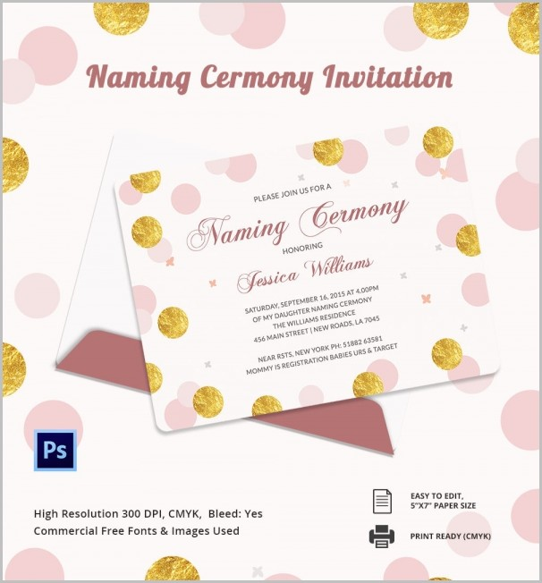 Free Invitation Templates For Naming Ceremony