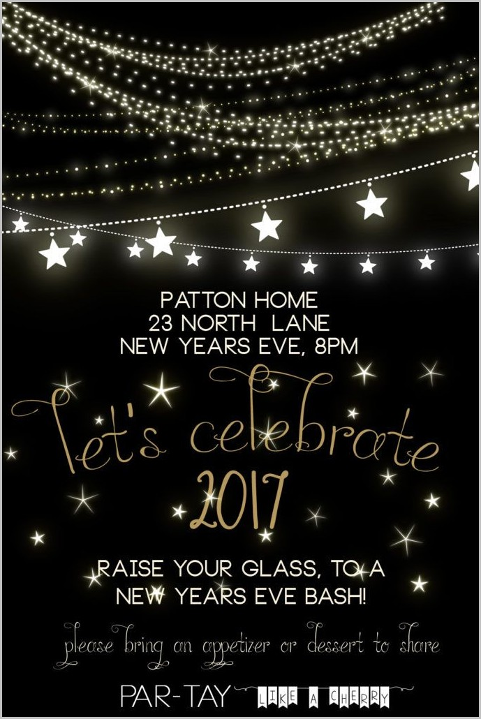 Free Invitation Templates New Years Eve