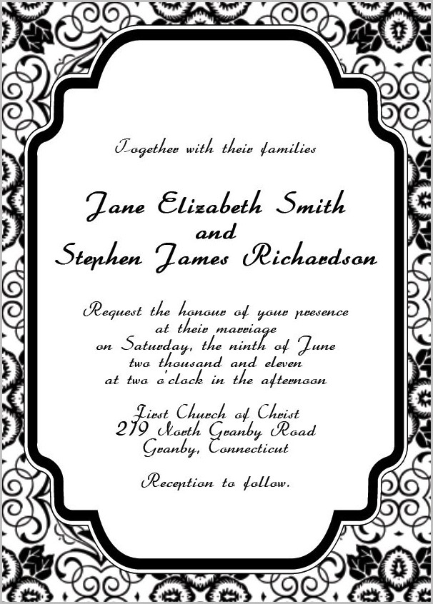 Free Invitation Templates Online