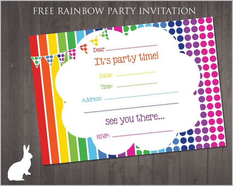 Free Invitation Templates Printable Birthday