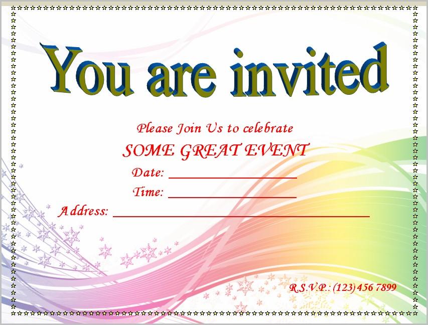 Free Invitation Templates Printable