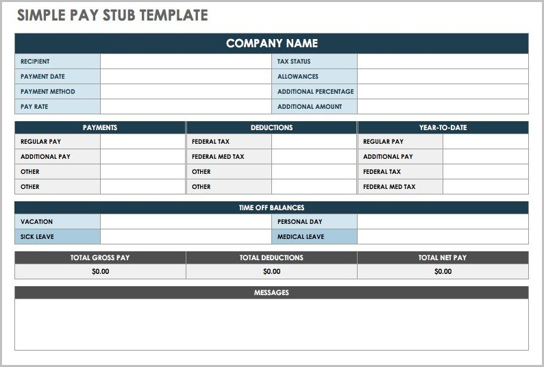 Free Pay Stub Template With Calculator