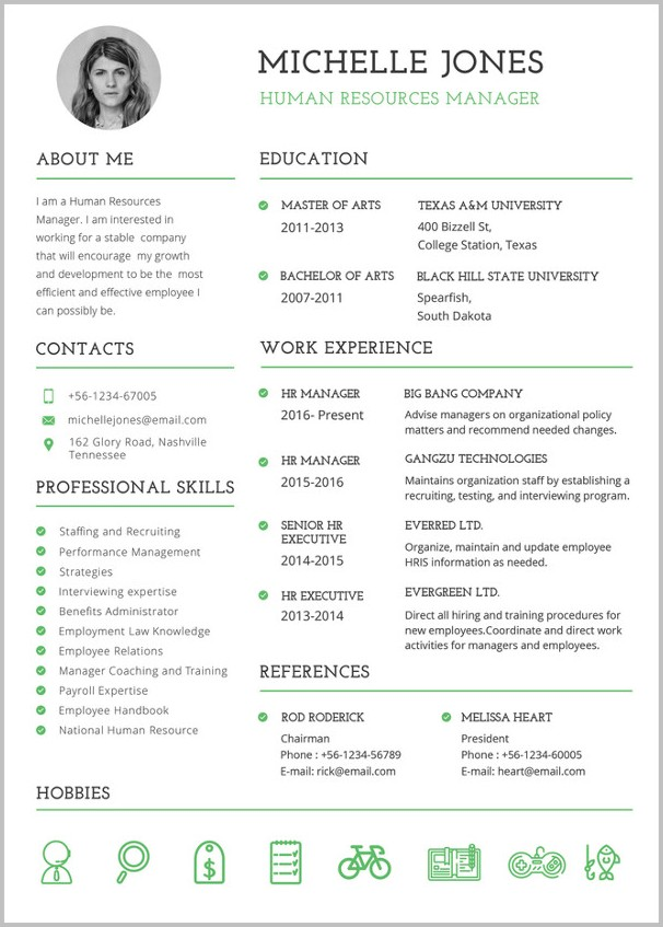 Free Professional Resume Templates For Word