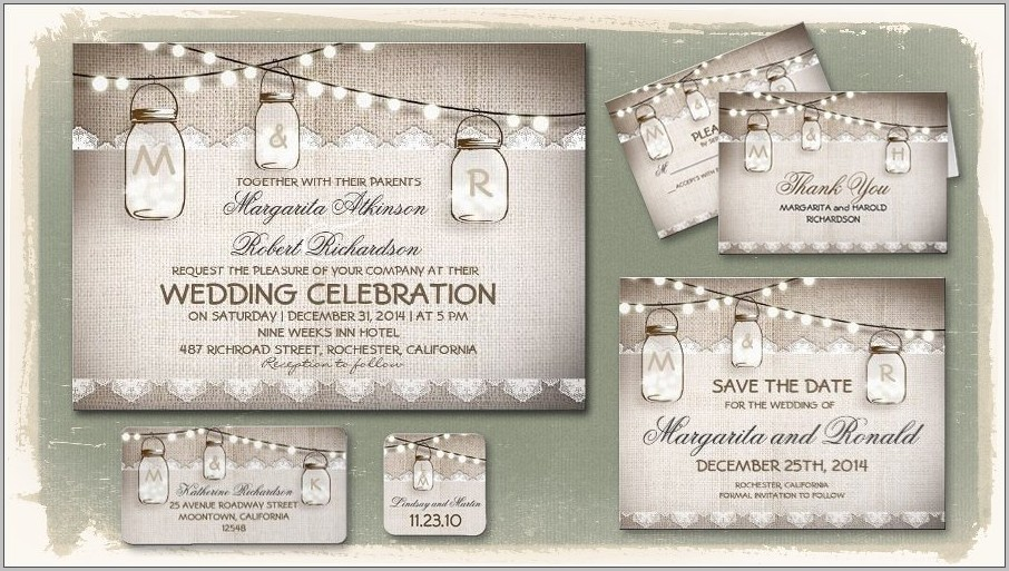 Free Wedding Invitation Templates Mason Jar