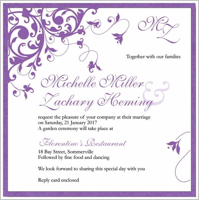 Free Wedding Invitation Templates Uk
