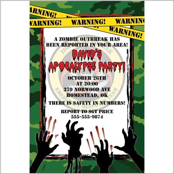 Free Zombie Invitation Templates