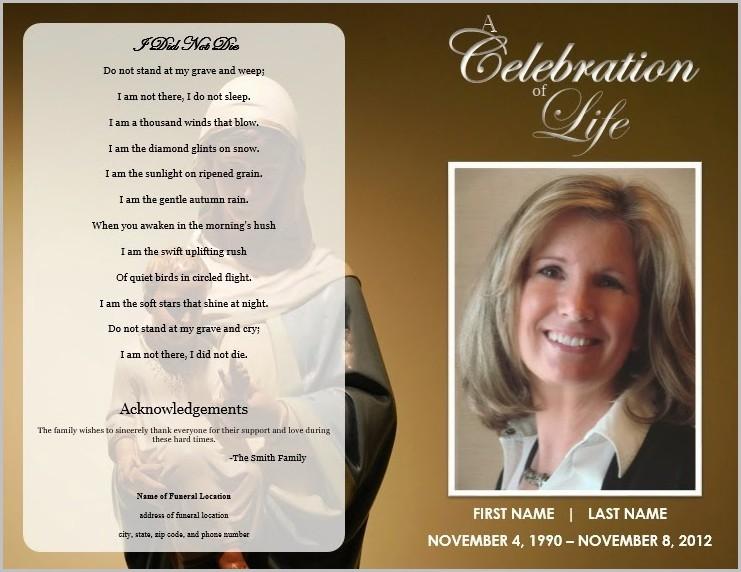 Funeral Program Blank Template