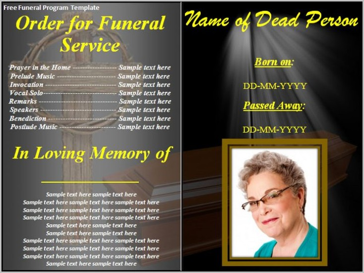 Funeral Program Layout Template