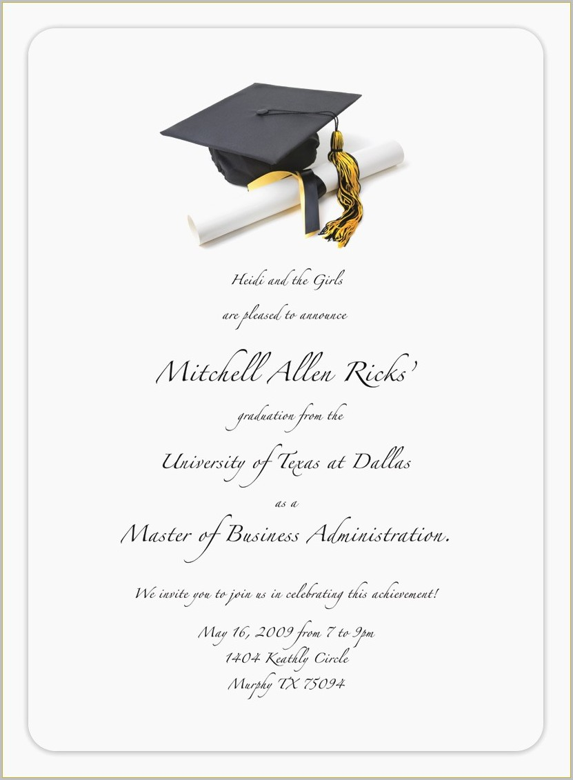 Graduation Invitation Card Maker Free