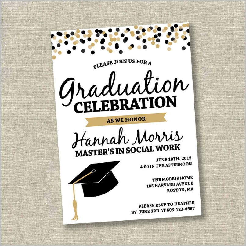 Graduation Invitation Maker Online Free