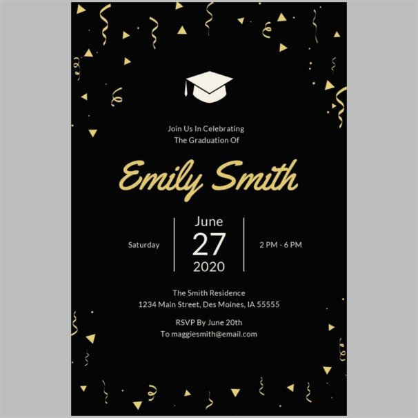 Graduation Invitation Templates Photoshop