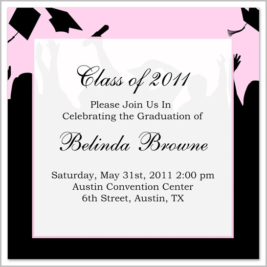 Graduation Invitation Templates Word