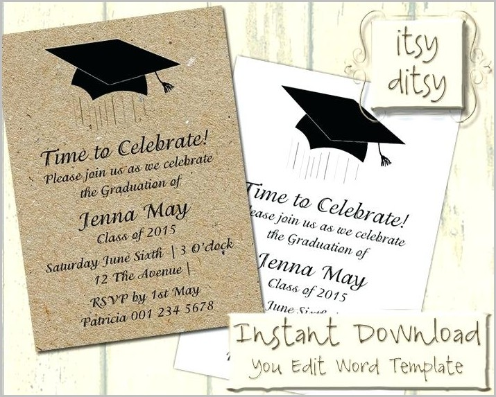 Graduation Party Invitation Templates Microsoft Word