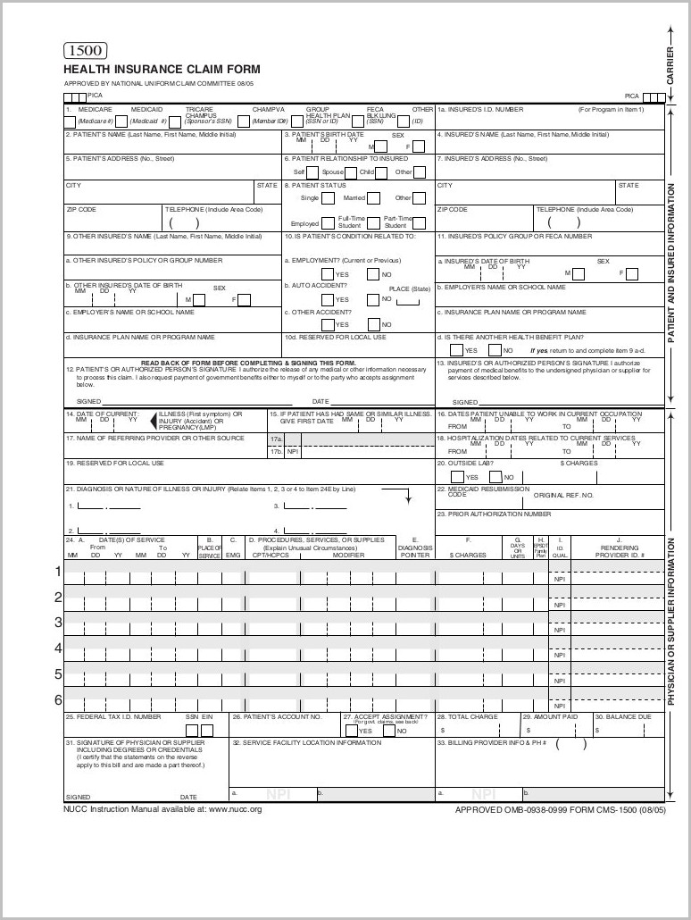 Hcfa 1500 Form Box 22