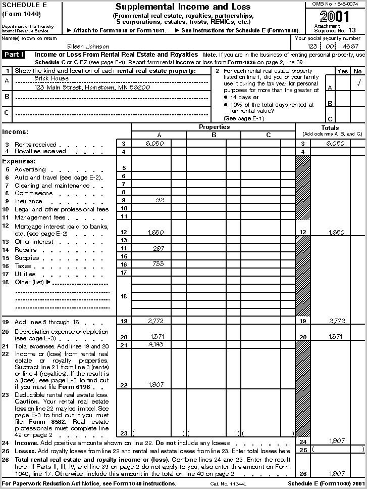 Irs Form 1040 Depreciation