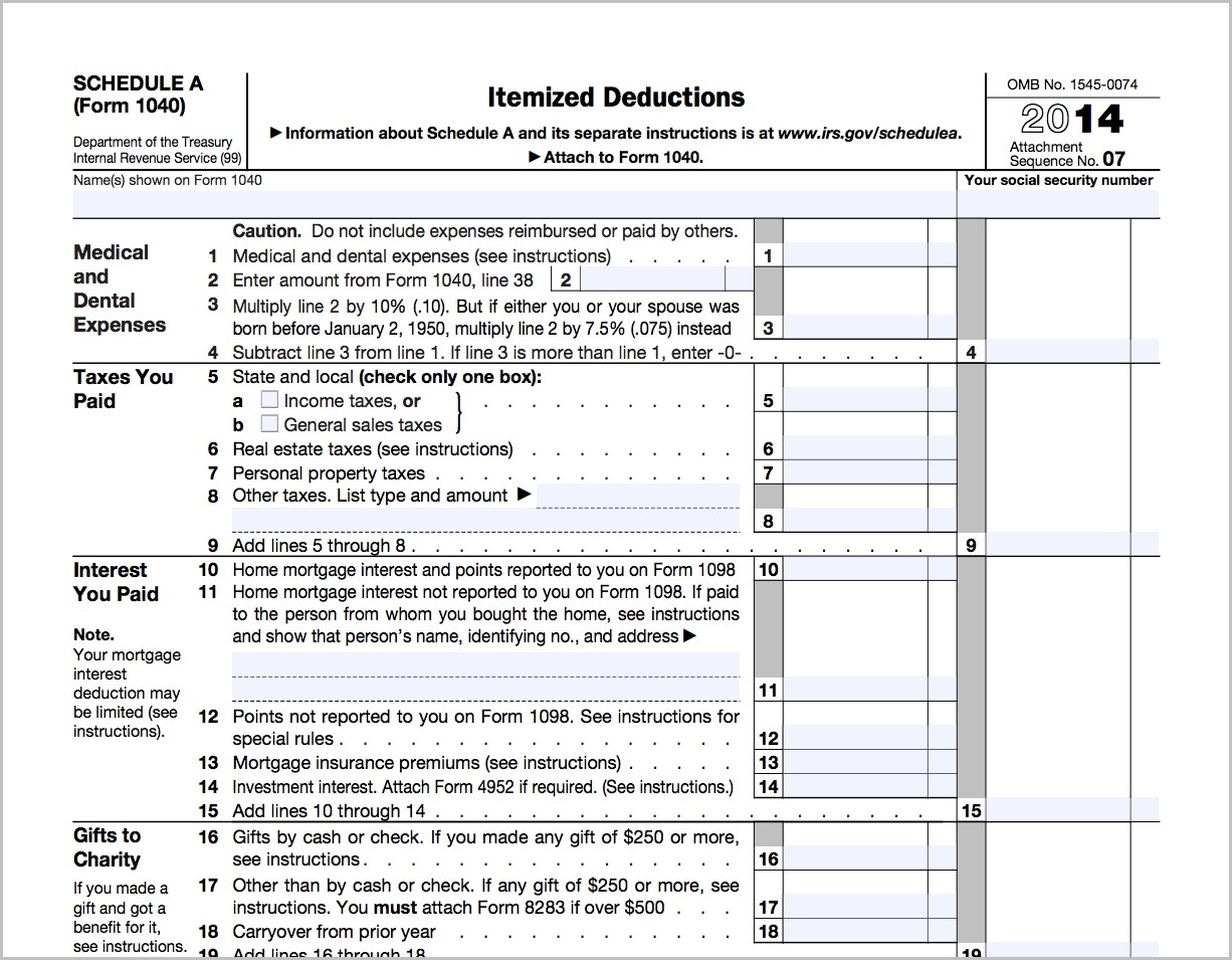 Irs Form 1040 Gifts To Charity