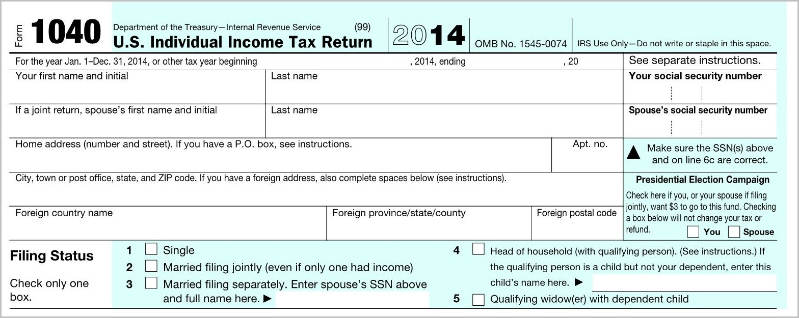 Irs Form 1040 Meaning