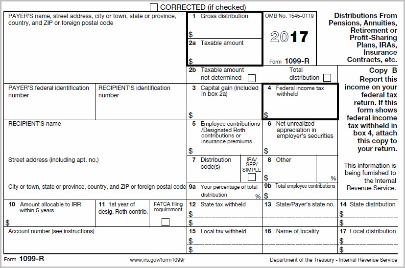 Irs Form 1099 R