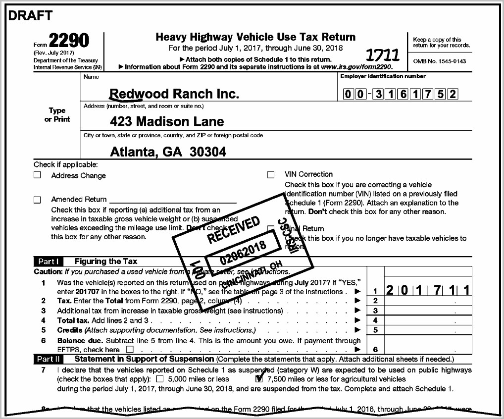 Irs Form 2290 Truckers