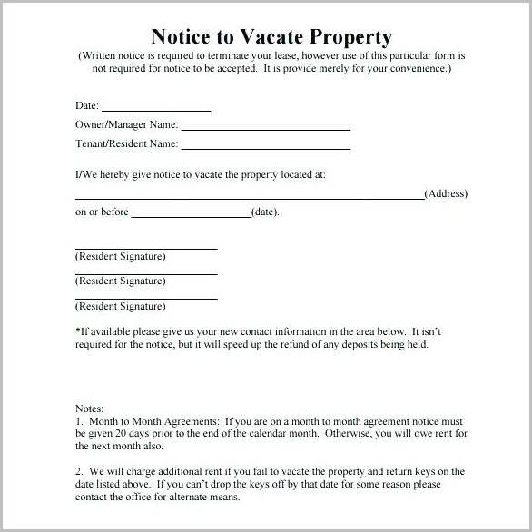 Lodger Eviction Notice Template California